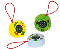 Mini Wooden Compass (set of 3)