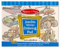 Melissa and Doug - Jumbo Vehicles Colouring In Pad