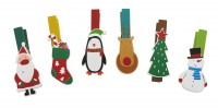 Wooden Christmas Pegs (set 6)