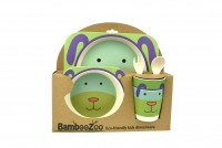 BambooZoo Dinnerware Dog Design (5pce set)