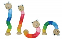 Wooden LARGE Jointed Worm