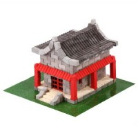 Plaster Building Set - Chinese House