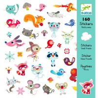 Djeco - Sticker Pack - small friends (160pc)