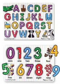 Melissa and Doug - Peg Puzzle Duo - alphabet and number
